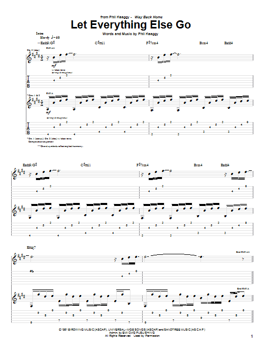 Let Everything Else Go (Guitar Tab)