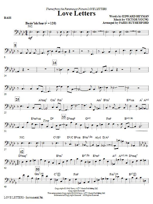 Love Letters - Bass (Choir Instrumental Pak)