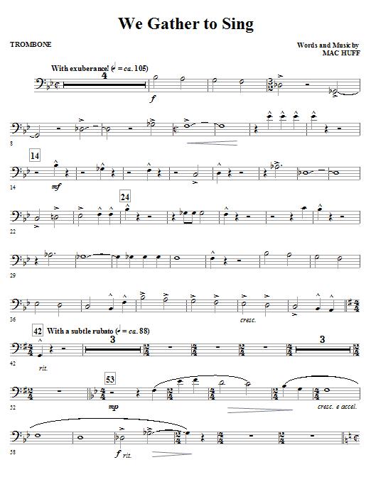 We Gather To Sing - Trombone (Choir Instrumental Pak)