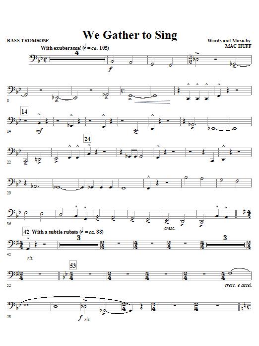 We Gather To Sing - Bass Trombone (Choir Instrumental Pak)