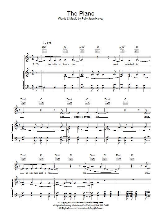 The Piano Sheet Music