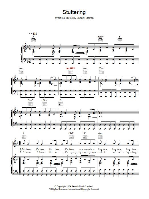 Stuttering (Kiss Me Again) Sheet Music