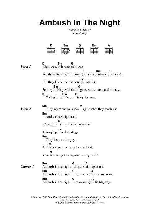 Ambush In The Night Sheet Music