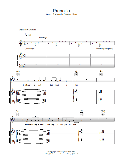 Prescilla Sheet Music
