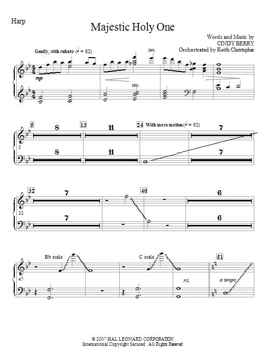 Majestic Holy One - Harp (Choir Instrumental Pak)