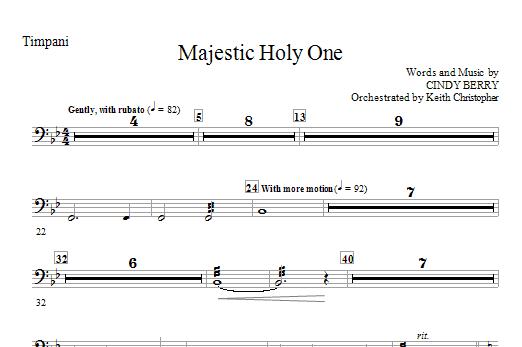 Majestic Holy One - Timpani (Choir Instrumental Pak)