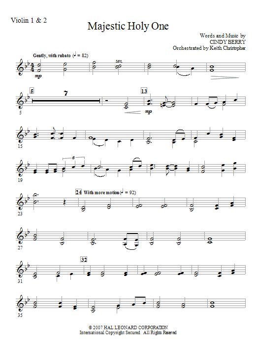 Majestic Holy One - Violin 1, 2 (Choir Instrumental Pak)