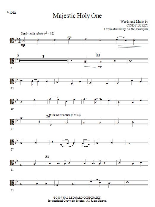 Majestic Holy One - Viola (Choir Instrumental Pak)