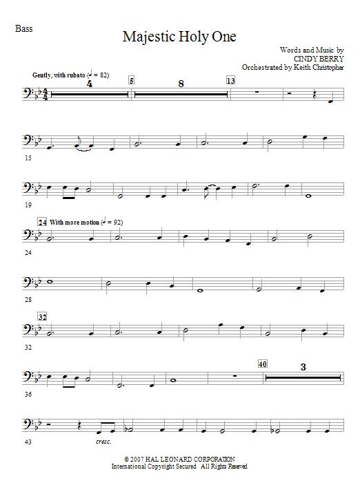 Majestic Holy One - Bass (Choir Instrumental Pak)