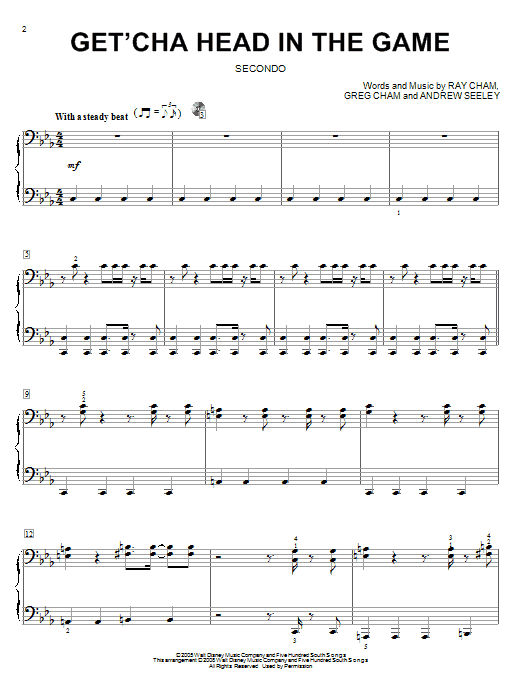 Get'cha Head In The Game Sheet Music