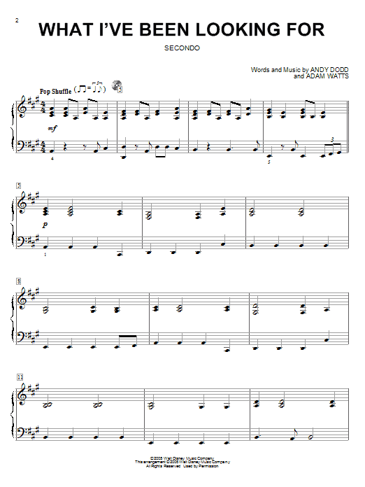 What I've Been Looking For Sheet Music