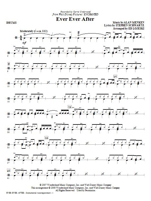 Ever Ever After - Drums (Choir Instrumental Pak)