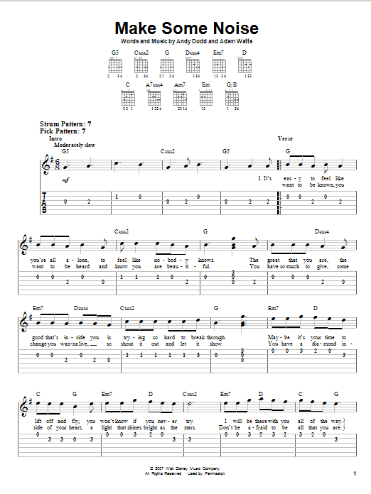 Make Some Noise Sheet Music