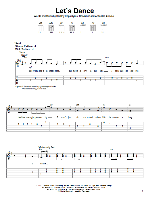 Fancy Lets Dance Chords Model - Song Chords Images - apa-montreal.info