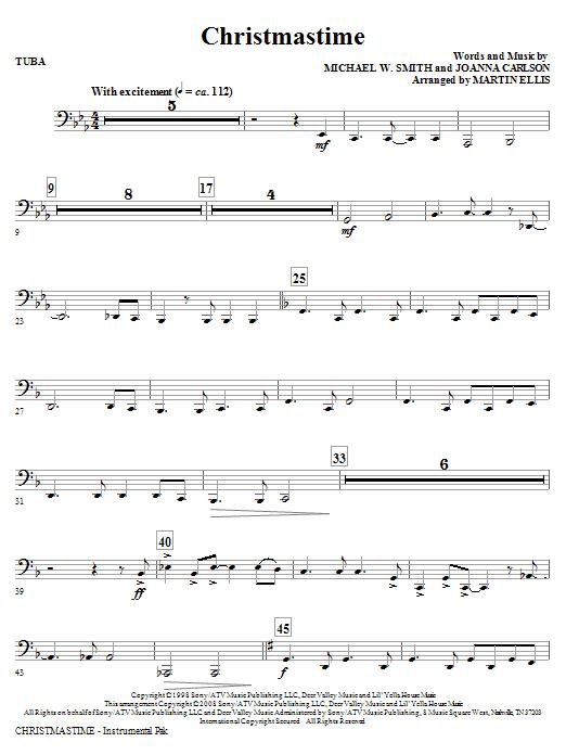Christmastime - Tuba (Choir Instrumental Pak)