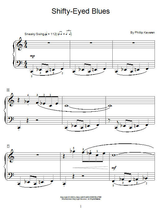 Shifty-Eyed Blues Sheet Music