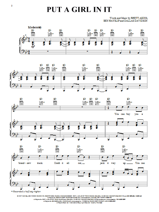 Put A Girl In It (Piano, Vocal & Guitar (Right-Hand Melody))
