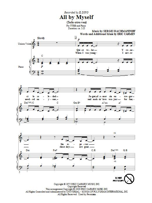 All By Myself (TTBB Choir)
