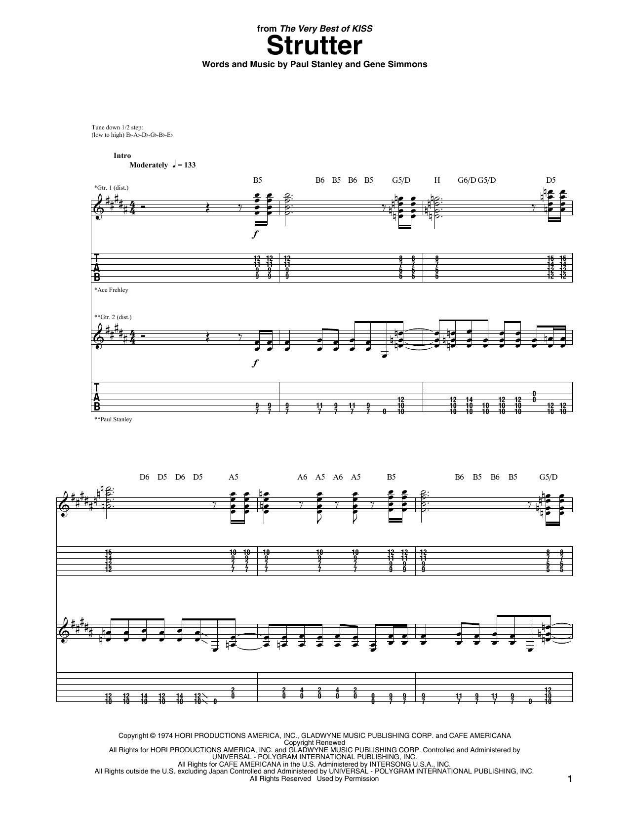 Strutter Sheet Music