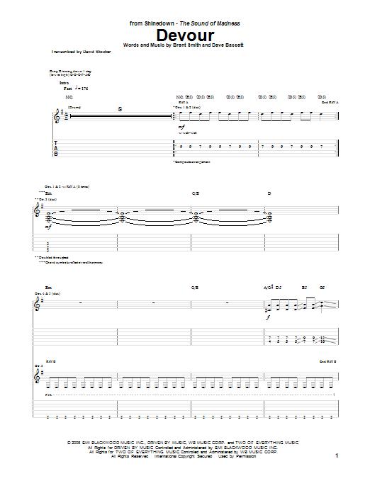 Devour Sheet Music