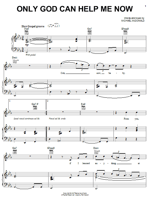 Only God Can Help Me Now Sheet Music