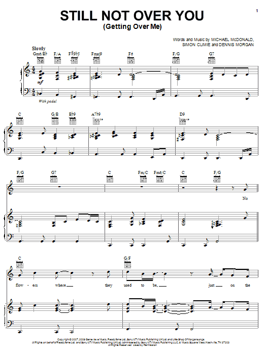 Still Not Over You (Getting Over Me) Sheet Music