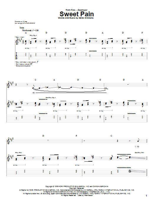 Sweet Pain Sheet Music