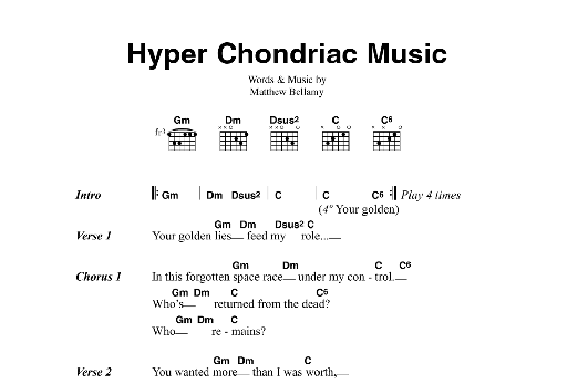 Hyper Chondriac Music Sheet Music