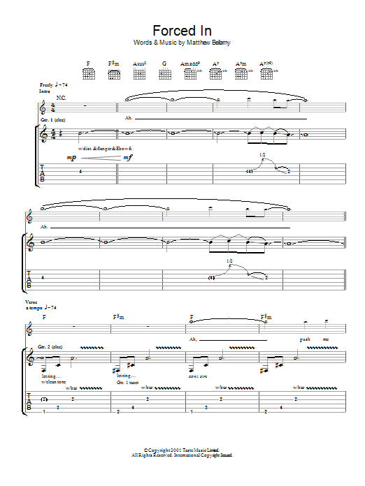 Forced In Sheet Music