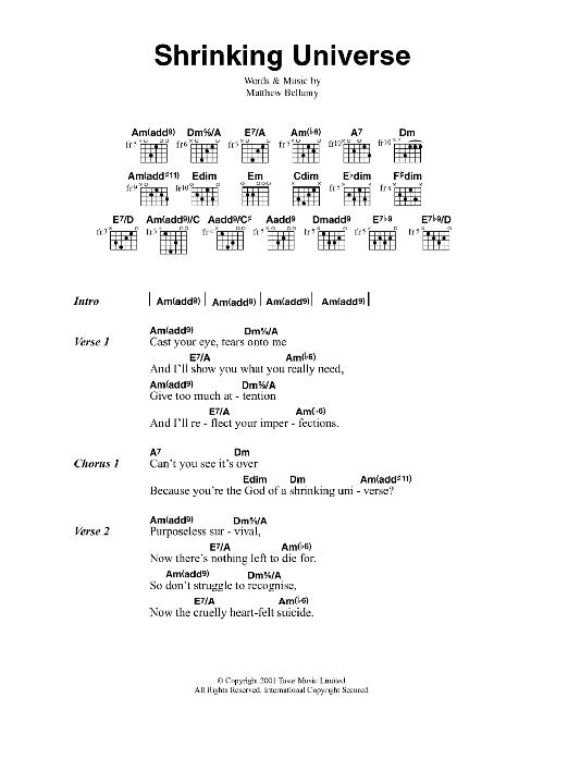 Shrinking Universe Sheet Music