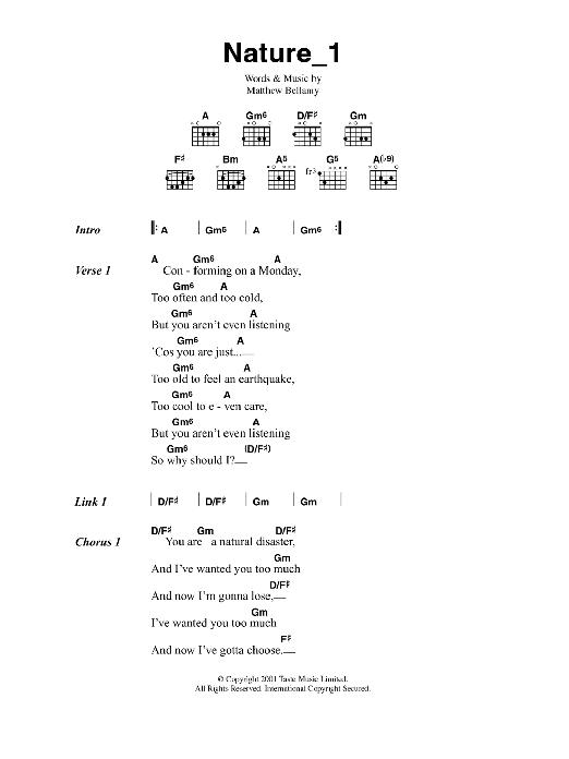 Nature_1 Sheet Music