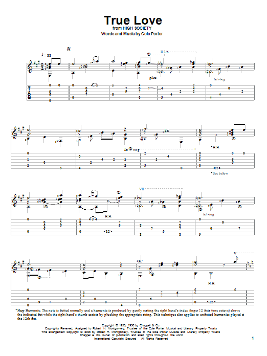 True Love Sheet Music