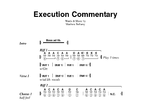 Execution Commentary Sheet Music