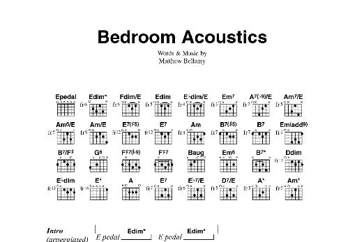 Bedroom Acoustics Sheet Music