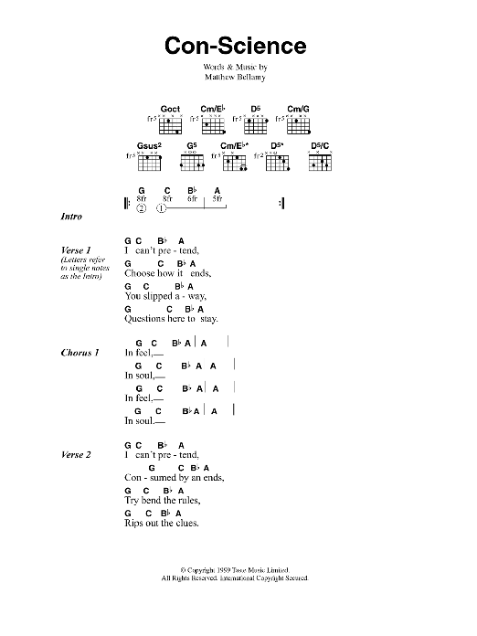 Con-Science Sheet Music