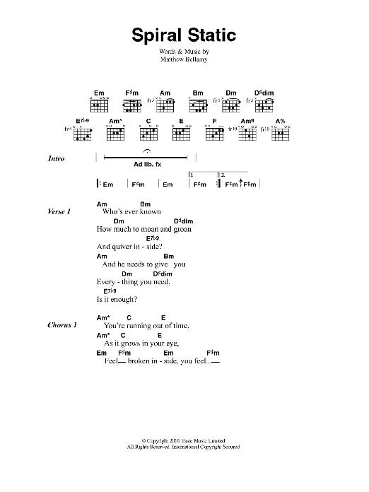 Spiral Static Sheet Music