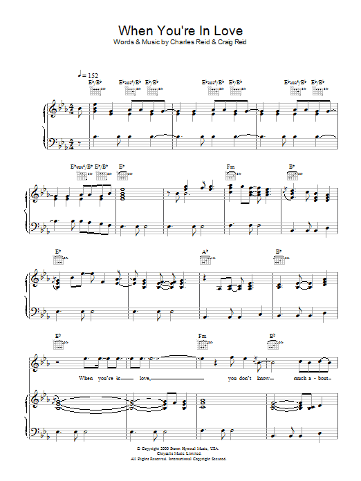 When You're In Love Sheet Music