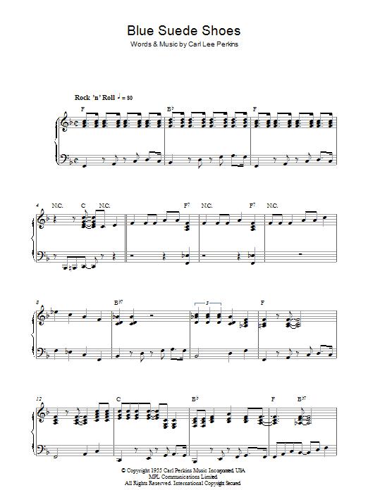 Blue Suede Shoes (Piano Solo)