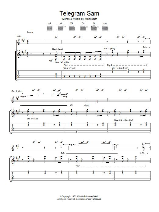 Telegram Sam (Guitar Tab)