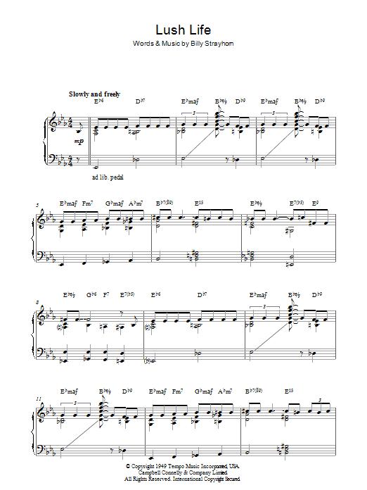 Lush Life (Piano Solo)