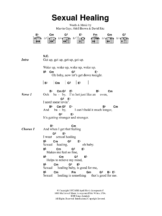 Sexual healing marvin gaye guitar tabs