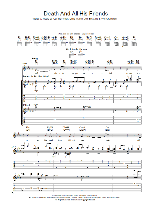 Death And All His Friends Sheet Music