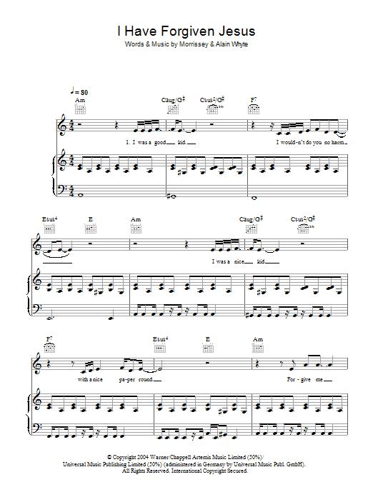 I Have Forgiven Jesus (Piano, Vocal & Guitar)