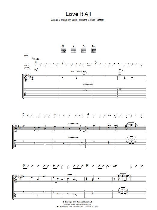 Love It All (Guitar Tab)