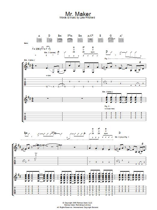 Mr Maker (Guitar Tab)