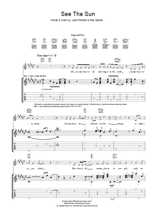 See The Sun (Guitar Tab)