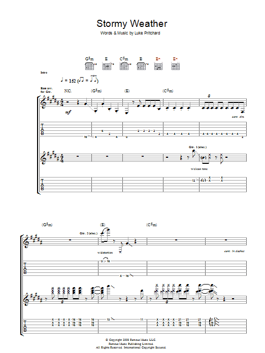 Stormy Weather (Guitar Tab)