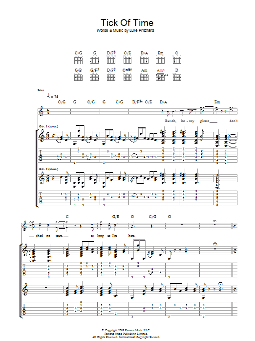 Tick Of Time (Guitar Tab)