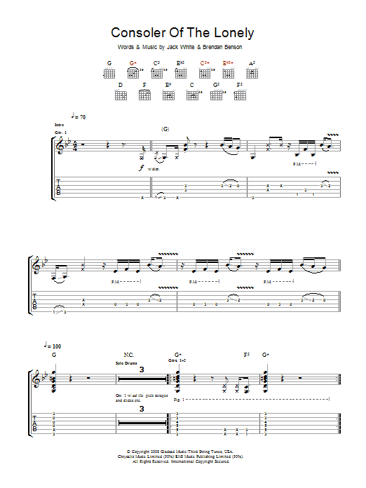 Consoler Of The Lonely (Guitar Tab)