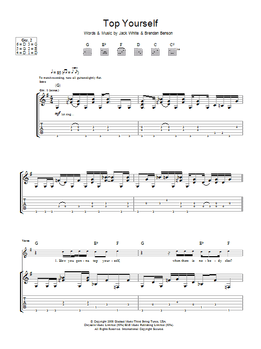 Top Yourself (Guitar Tab)